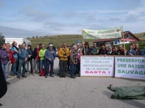 Manifestation pied du Hohneck
